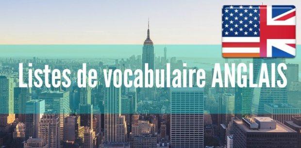 fiche listes de vocabulaire anglais pdf