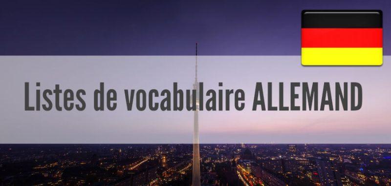 fiches liste vocabulaire allemand pdf