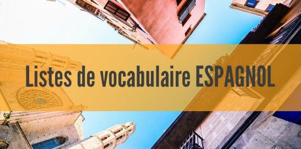 liste vocabulaire espagnol pdf