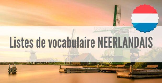 liste vocabulaire neerlandais pdf