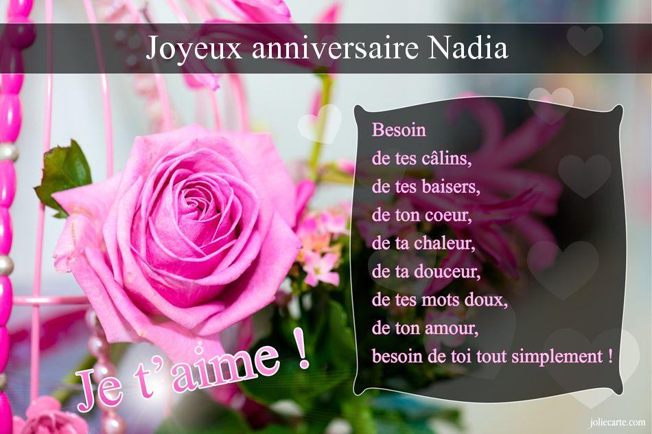 Bon Anniversaire Nadia Kapokto