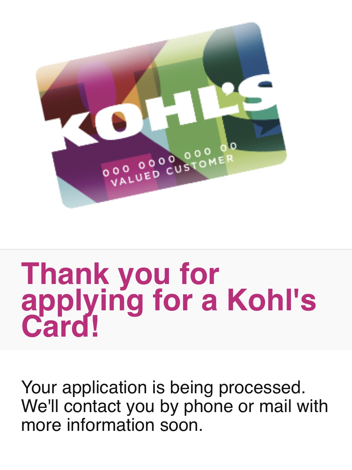 Read on, and we'll show you how. Kohl S Card Approval Or Denied Myfico Forums 6172514