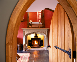 Jo and Shaun Bennett fireplace