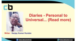 Diaries- personal to universal