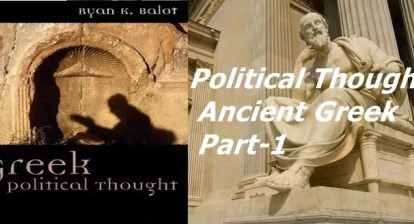 Political Thought: Ancient Greek, Part-1