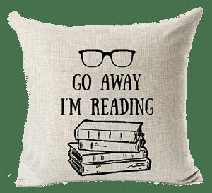 Go Away Reading Pillow