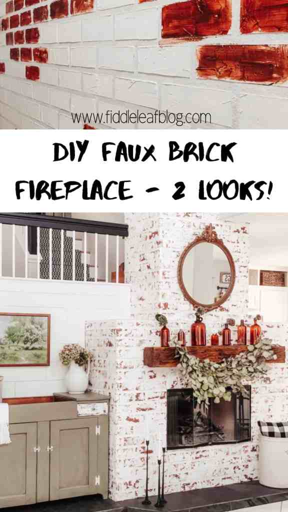 diy faux brick how to tutorial