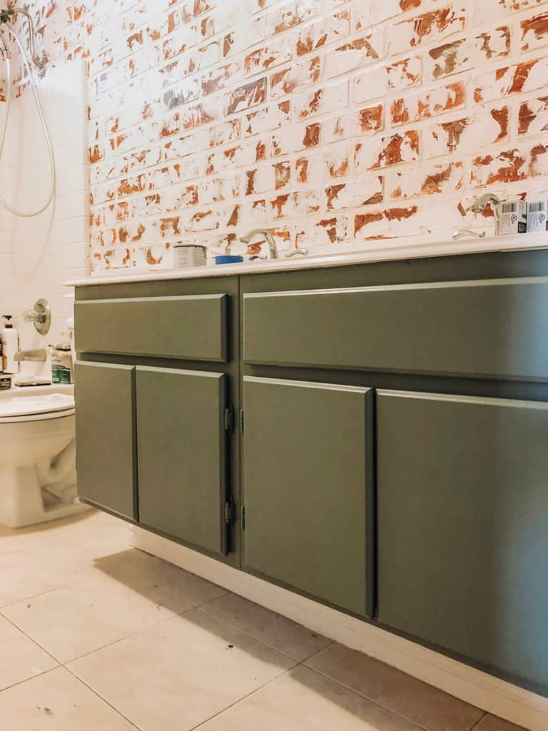 giani nuvo cabinet paint in old sage