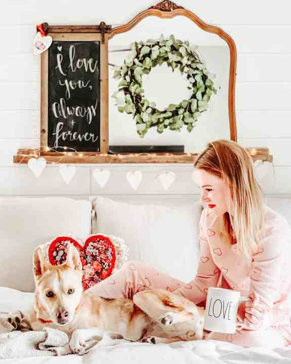 budget valentines day decor master bedroom