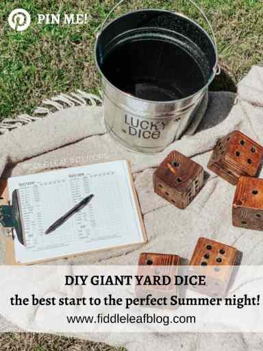 """how to make diy giant yard dice with just a 4""""x4"""""""