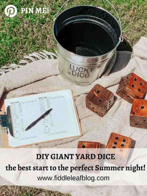 "how to make diy giant yard dice with just a 4""x4"""