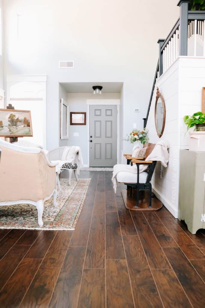 select surfaces spill defense laminate flooring in smoked hickory