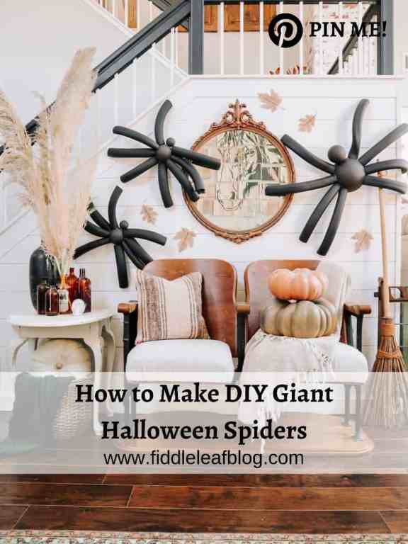 how to make DIY giant halloween spiders
