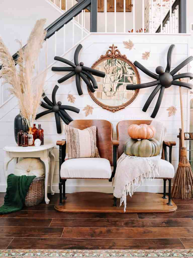 DIY giant halloween spiders tutorial