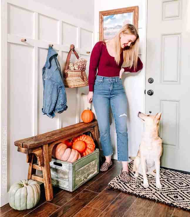 diy farmhouse entryway makeover