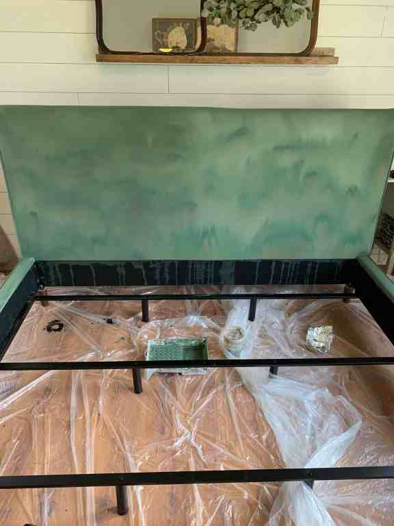 painting fabric with annie sloan chalk paint - the horror of the first coat!