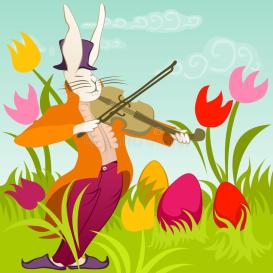 easter-bunny-violin