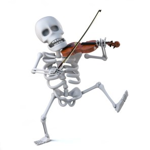 Fiddling Skeleton