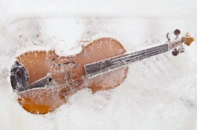 Violin into the ice.