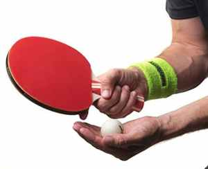 Premium Ping Pong Paddle Racket with Sweat Head/Wrist Bands Set