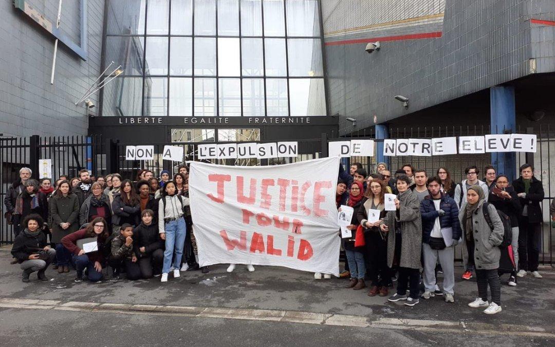 Lycéen menacé d'expulsion à Saint-Ouen : c'est NON !