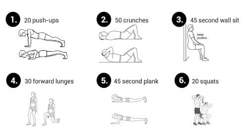 Example of an easy morning workout