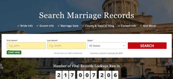 marriage records check
