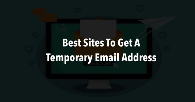 best temporary email address sites