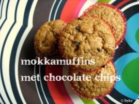 37 Mokkamuffins met chocolate chips - met tekst