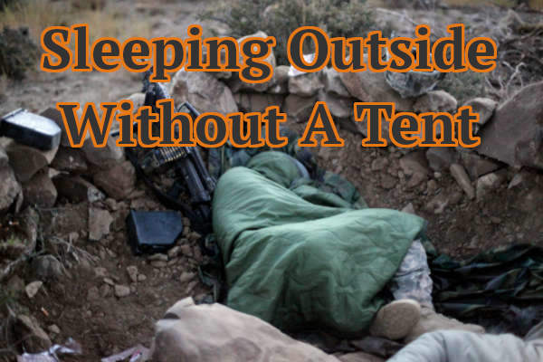 sleeping outside without a tent