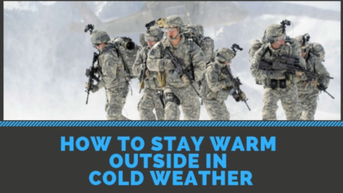 how to stay warm outside in cold weather