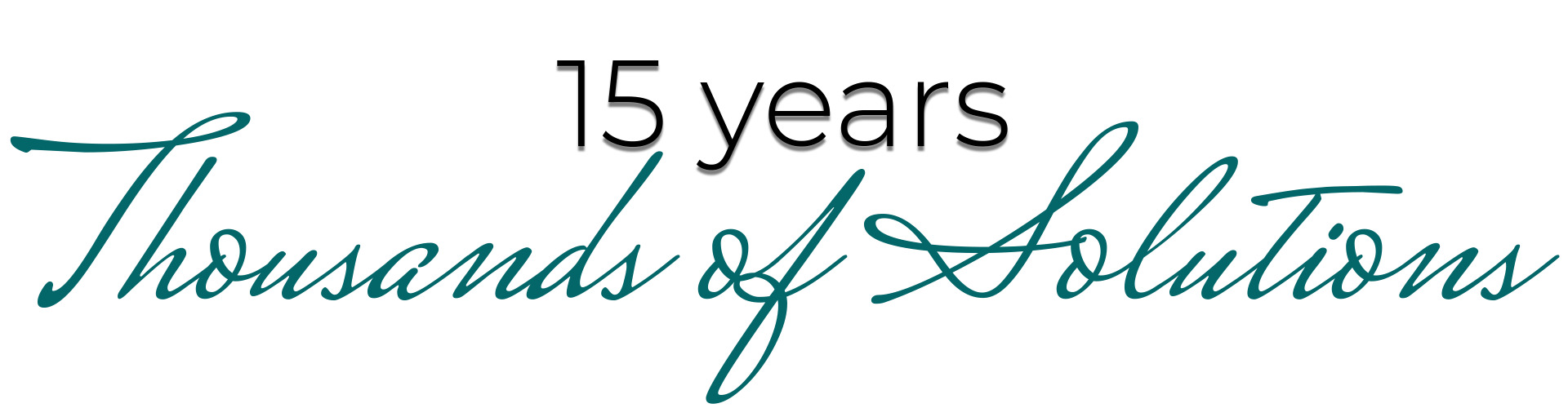 Logo for 15 Years, Thousands of Solutions documentary