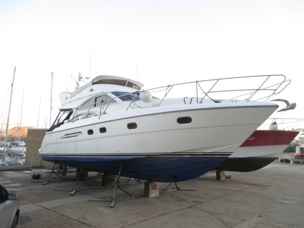 Pre-purchase survey of Princess 45 at Dover Marina, Kent