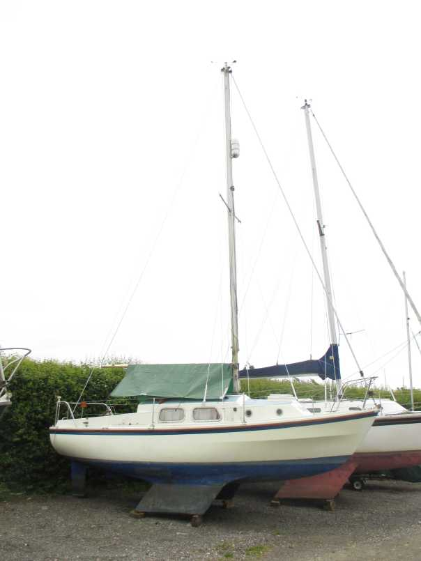 Insurance survey of Westerly Centaur at Dell Quay Yacht Yard, Chichester