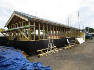 New build survey of steel houseboat