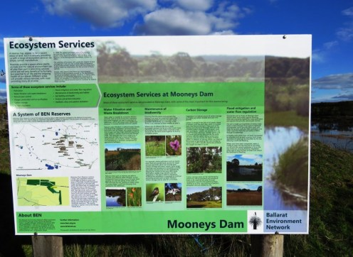 Signage at Mooney's Dam
