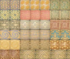 Convergence - sidewalk tiles