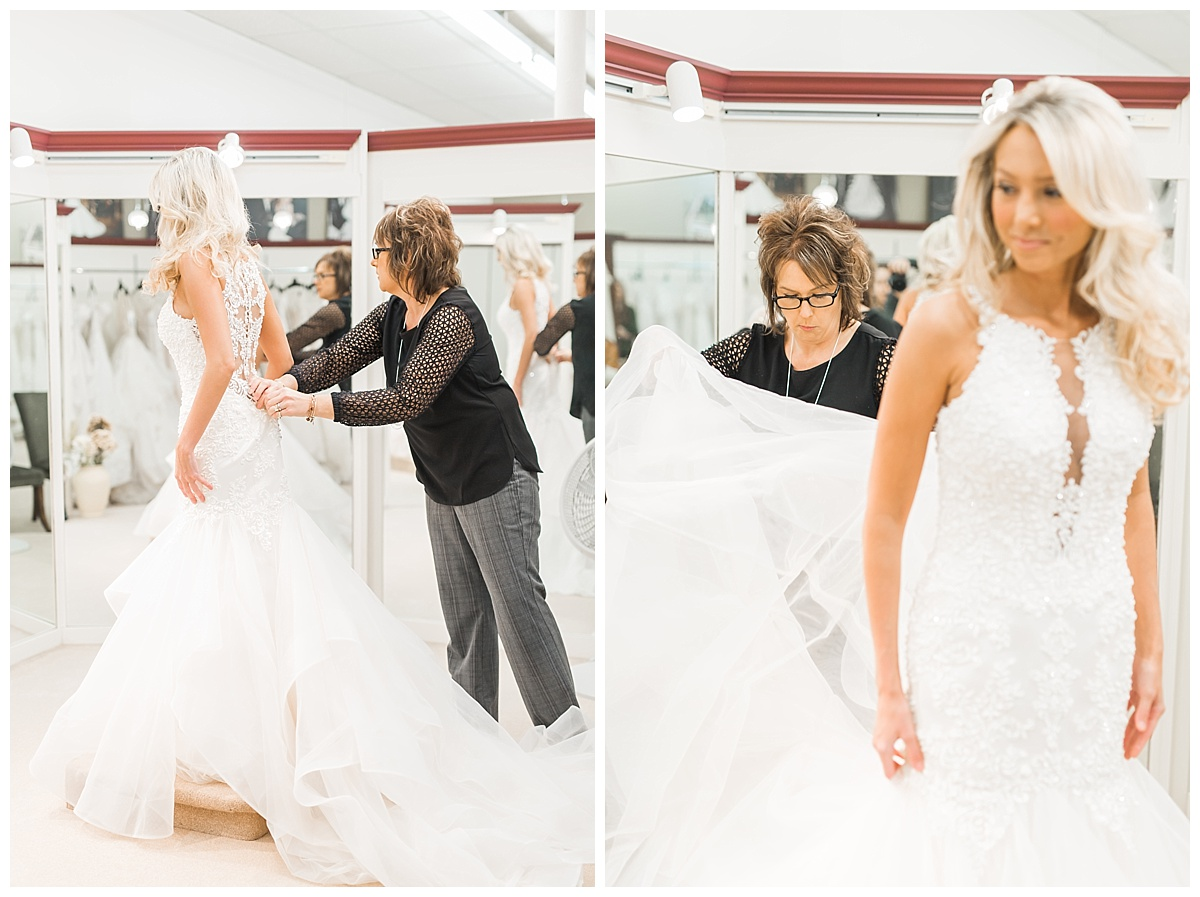 wedding dress shopping fieldstone photography