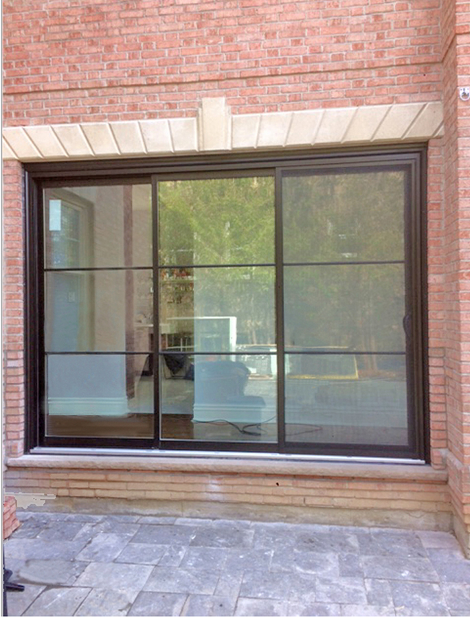 modern black sliding patio door