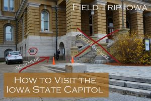 Iowa State Capitol entrance