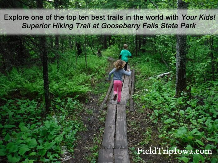 Superior Hiking Trail with kids