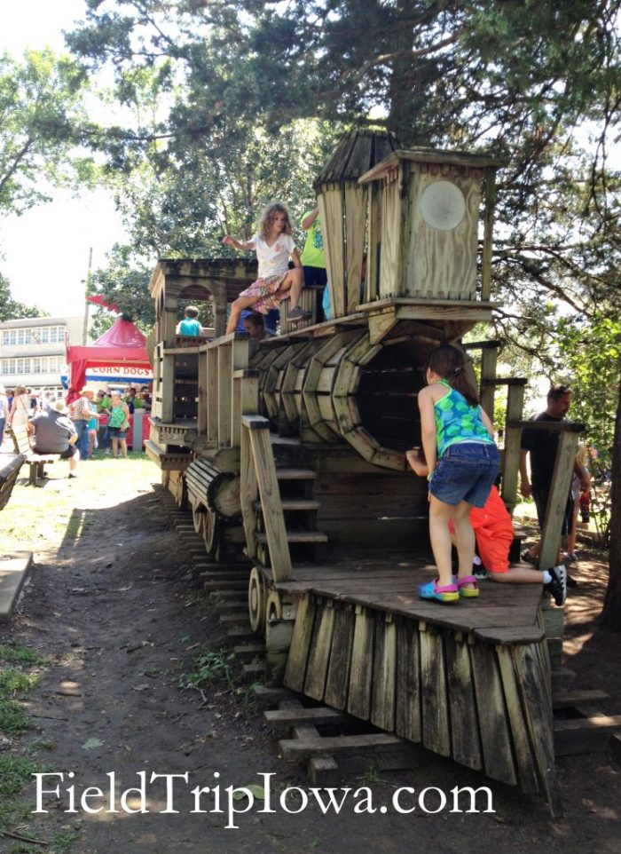 Iowa State Fair Wooden Playground train