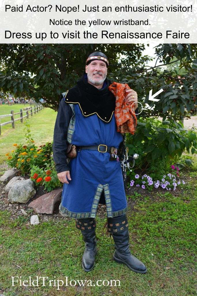 Family Guide to Renaissance Faire at Sleepy Hollow guy dressed like king