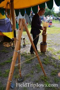 Medieval & Renaissance Society at the Renaissance Faire at Sleepy Hollow with the rope makers