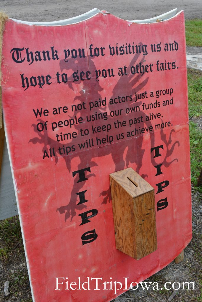 Family Guide to Renaissance Faire at Sleepy Hollow tip sign