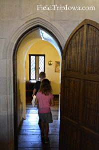 Salisbury House & Gardens children walk into porch room