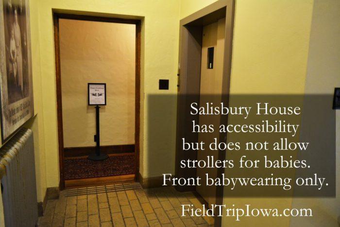 Salisbury House & Gardens Elevator in hallway
