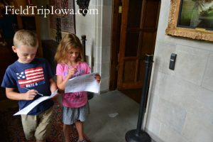 Salisbury House & Gardens children do scavanger hunt on school group tour