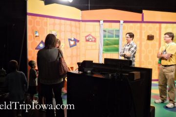 Kids clubhouse set at Iowa Public Television on a field trip