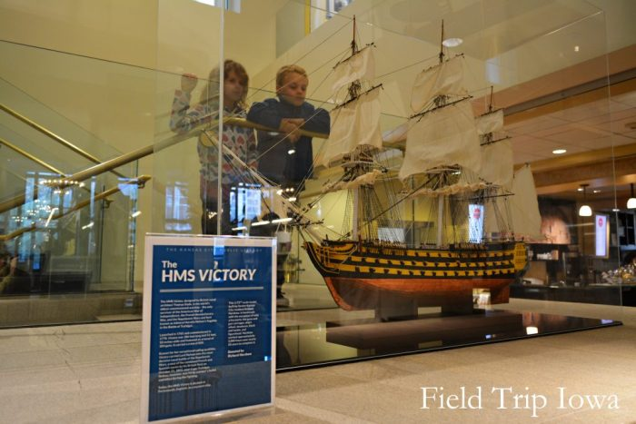 HMS Victory model at the Kansas City Public Library